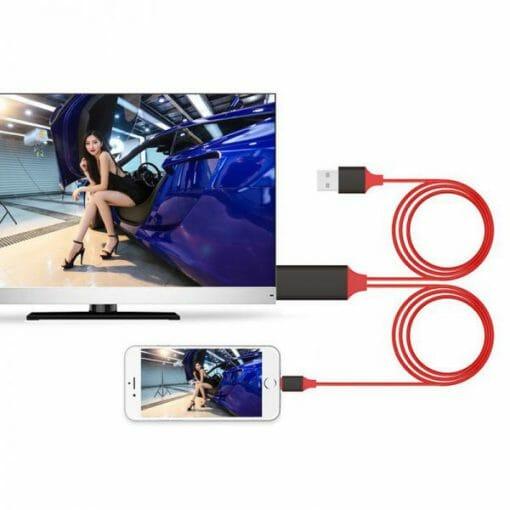 สายต่อทีวี HDTV HDMI รองรับอุปกรณ์ ไอโฟน ไอแพด To HDMI TV Cable-4