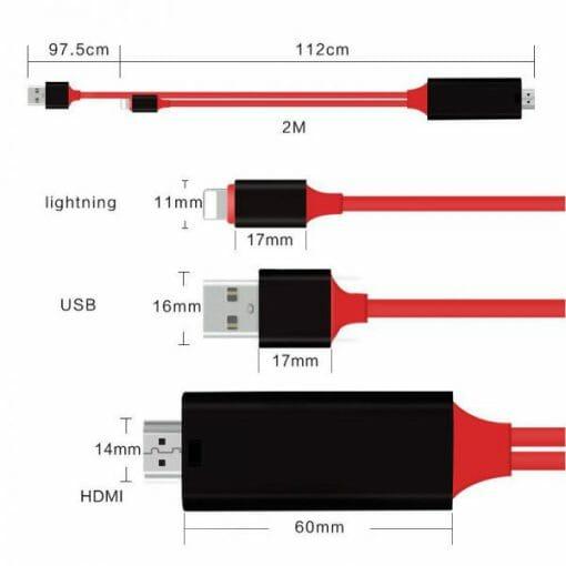 สายต่อทีวี HDTV HDMI รองรับอุปกรณ์ ไอโฟน ไอแพด To HDMI TV Cable-6